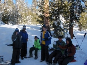 Scouts in the snow kitchen