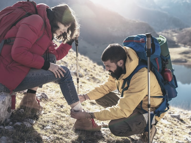 backpacking sprained ankle first aid