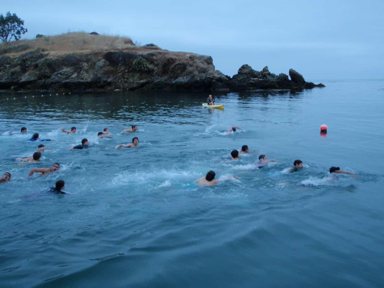 Swim test at Emerald Bay