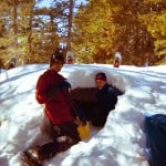 Avi and Kam building a snow cave