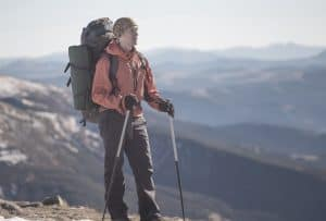 backpacker looking over horizon
