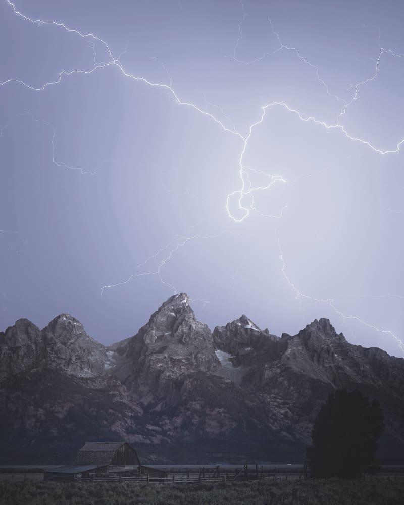 Lightning Tetons
