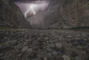 Lightning along trail