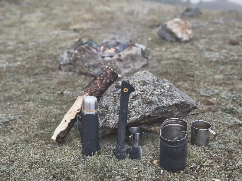 backpacking axe and thermos
