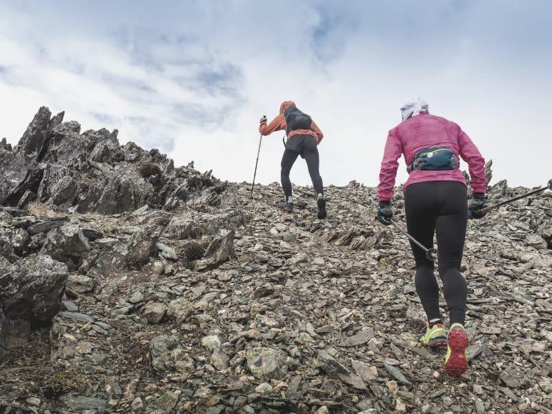 hikers scrambling