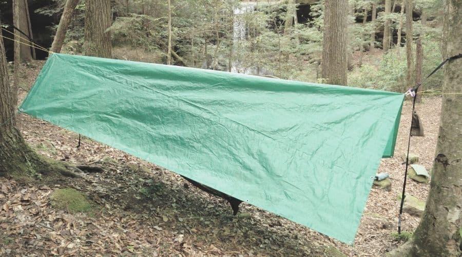 A frame hammock tarp