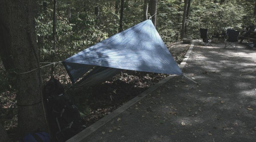 Diamond frame hammock tarp